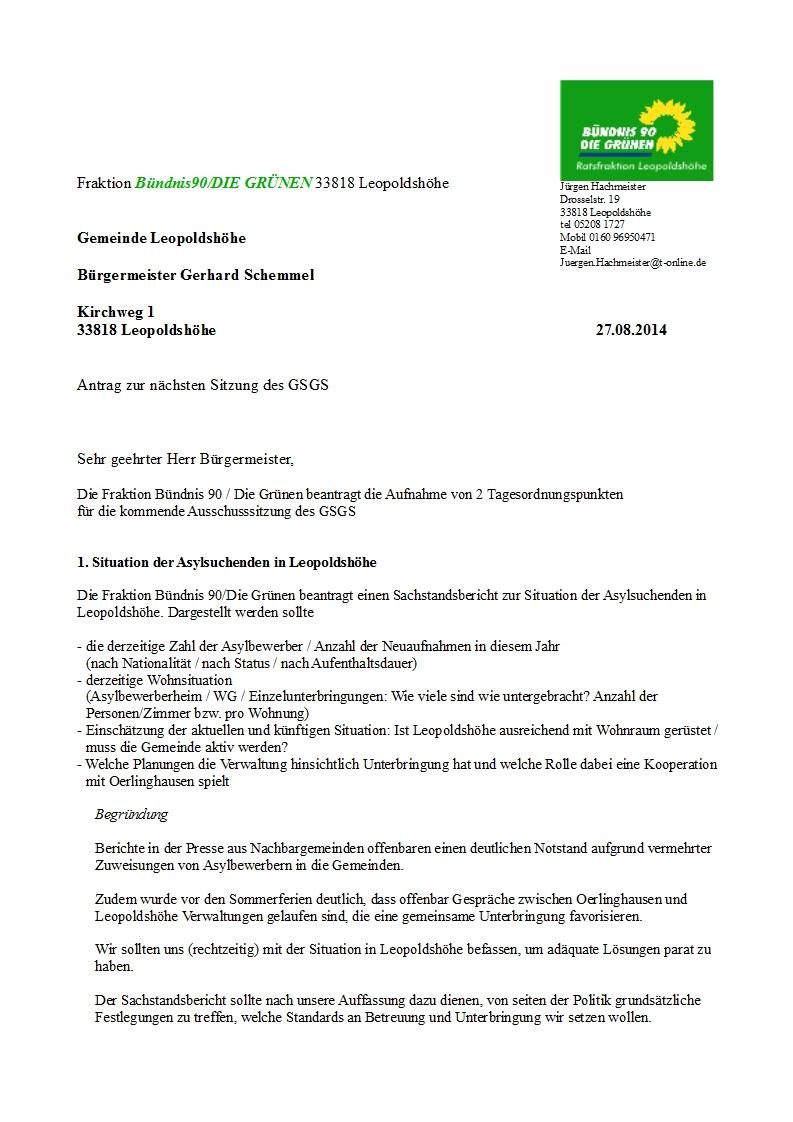 2014_Antrag GSGS Situation der Asylsuchenden - Kosten Sporthäuse_korr