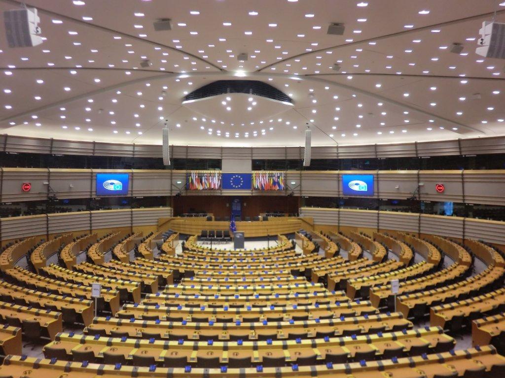 Plenarsaal des Europäischen Parlamets