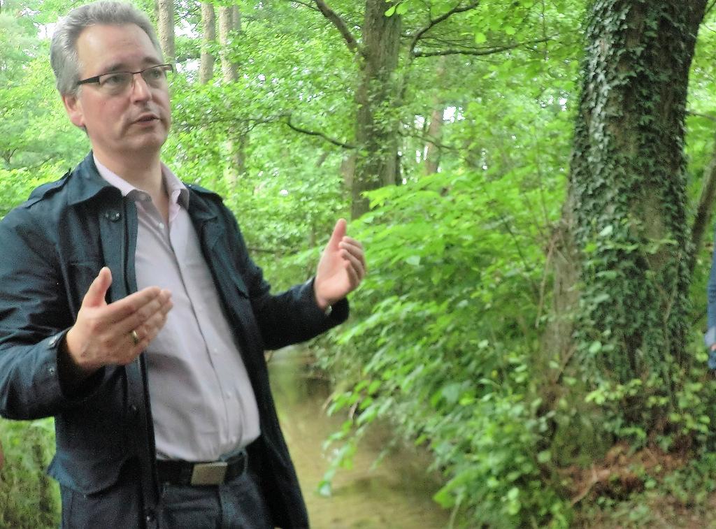 Hans-Christian Markert am Ravensberger Wehr