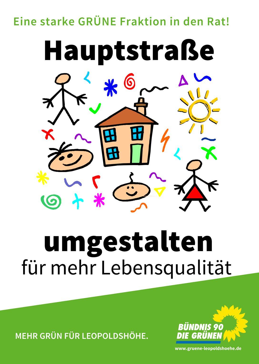 Plakat-Hauptstraße